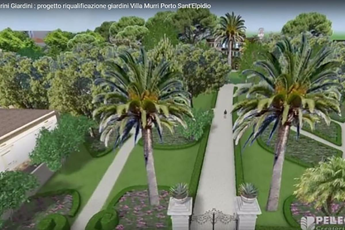 Riqualificazione dei giardini di villa murri pellegrini for App progettazione giardini