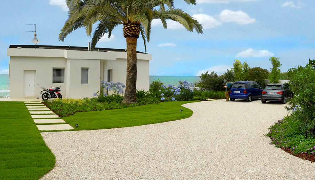 Giardino Della Villa Al Mare In Estate Pellegrini Giardini