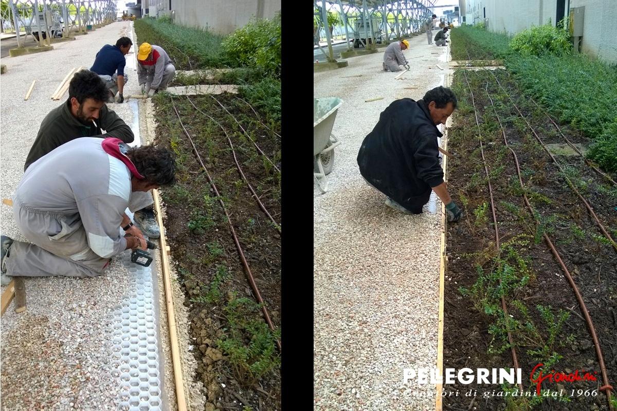 Pavimentazione da giardino in ghiaino stabilizzato. ~ pellegrini