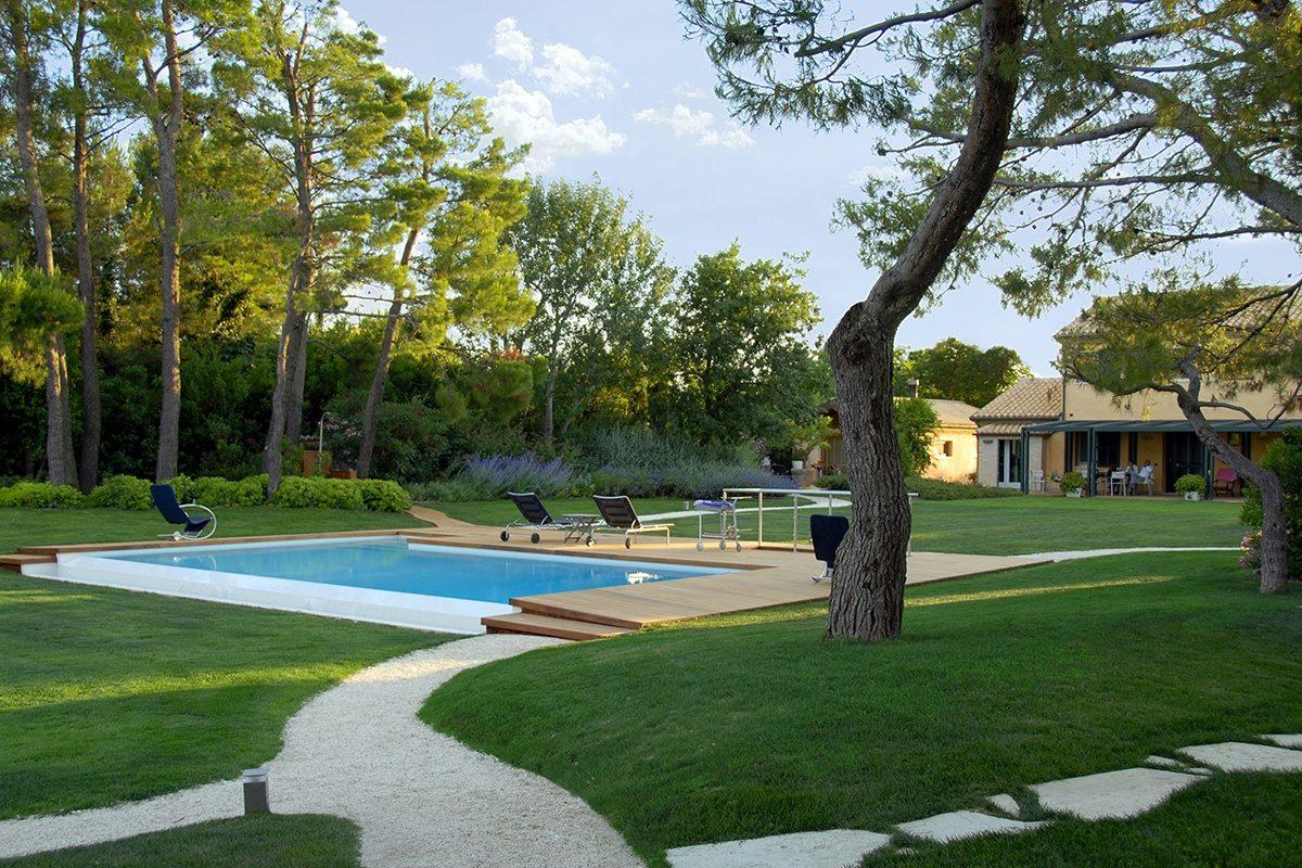 pini marittimi, mare, piscina, villa