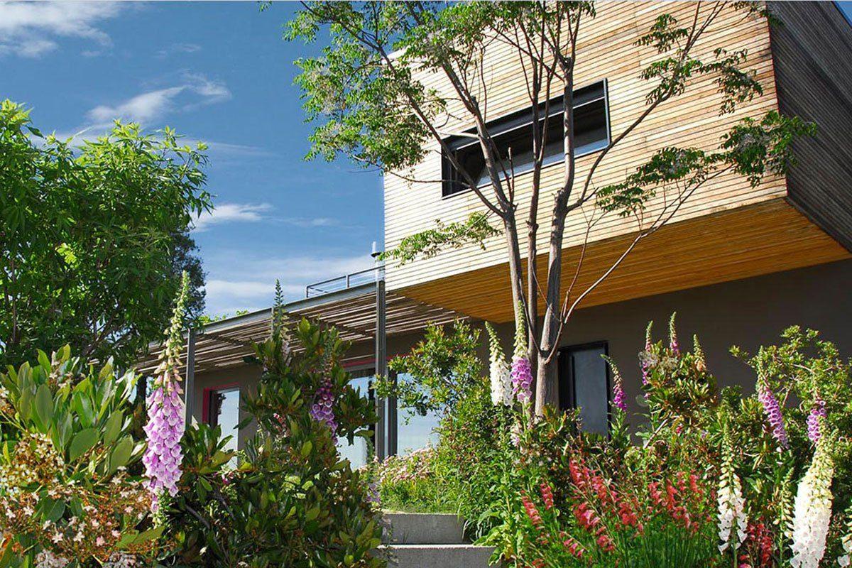 architettura, giardino, villa, moderno, moderna, garden landscaping