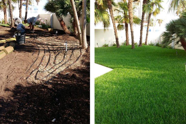 impianto di sub irrigazione, impianto di irrigazione, pellegrini giardini, tecnologia in giardino